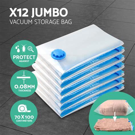 Grosir Vacuum Bag Size 70 X 100cm Wenbo Ready Stok 12x jumbo vacuum storage bags saver seal compressing space saving experts 70x100 ebay