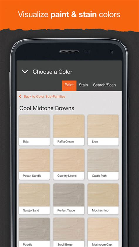 project color the home depot apk free android app appraw