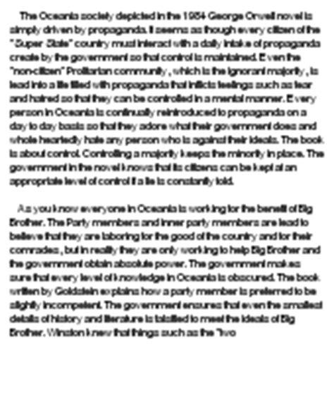 Propaganda Essay by 1984 Propaganda Writing At Essaypedia