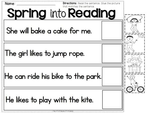 sentence pattern matching 17 best images about homeschool spring time fun on