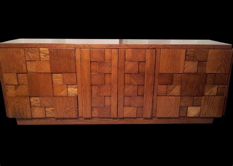 mid century modern brutalist 4 pc oak bedroom set paul