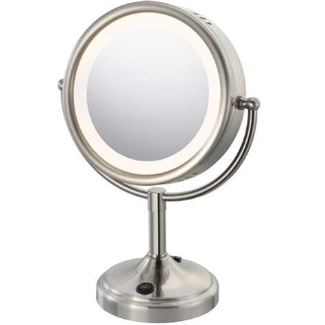 Makeup Vanity Lighted Mirror lighted makeup mirror with touch nickel in vanity mirrors
