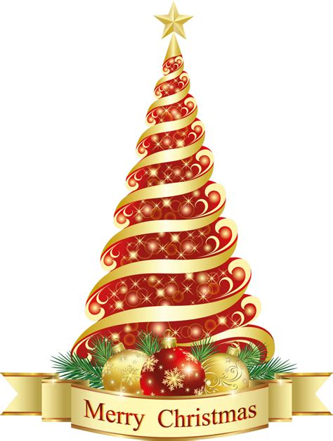 picture of a christmas tree with a red scarf aroud the top merry tree png clipart gallery yopriceville high quality images and