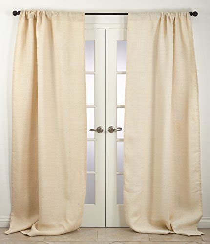 burlap curtains 96 open weave lined burlap 96 inch curtain panel 108 inches