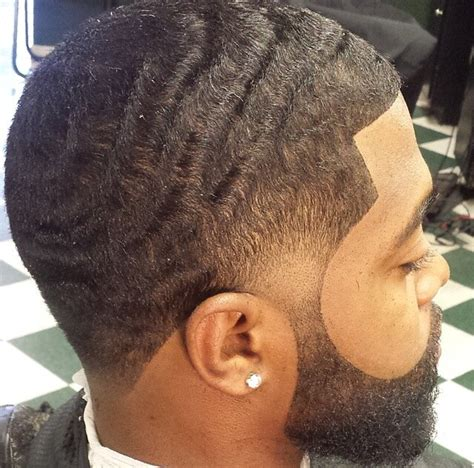 wave men haircuts waves fade and beard this the look i love to see on a