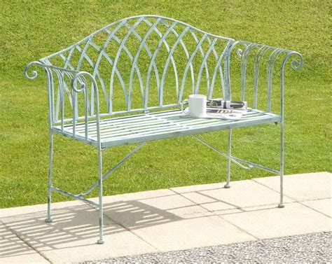 white iron bench bicester white cast iron bench by garden selections