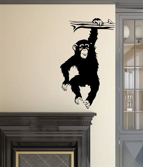 black wall sticker veldeco monkey wall stickers black buy veldeco monkey wall stickers black at best price in