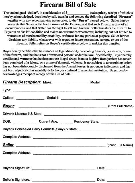 gun sale receipt template bill of sale simple new calendar template site