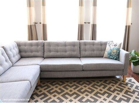 sofa hacks add tufting to your sofa cushions 37 cheap and easy