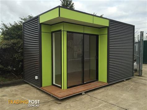 small upmarket transportable sales display office