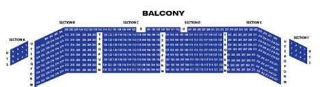 palace theare seating chart