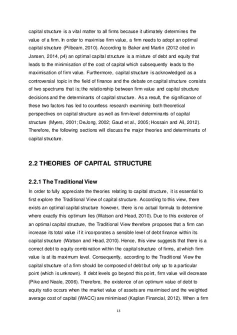 capital structure dissertation capital structure dissertation topics 28 images