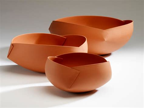 Folded Paper Bowl - origami you cannot fold ceramic origami by hoey