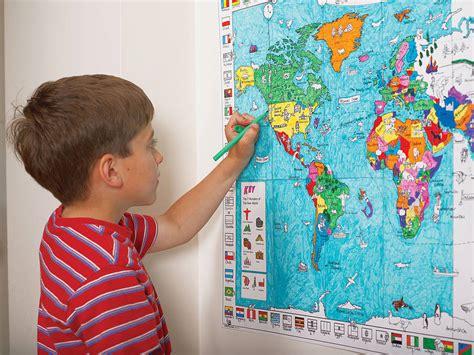 i doodlebugz colour in world map poster and pens by doodlebugz