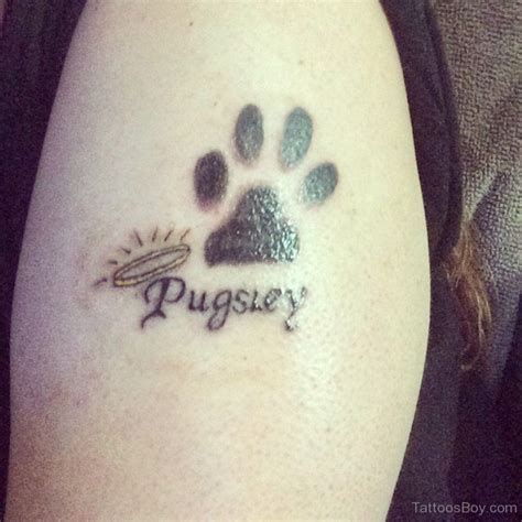 dog paw print tattoos paw print tattoos designs pictures
