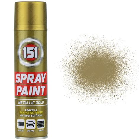 spray paint 2 x 250ml 151 metallic gold aerosol paint spray cars wood