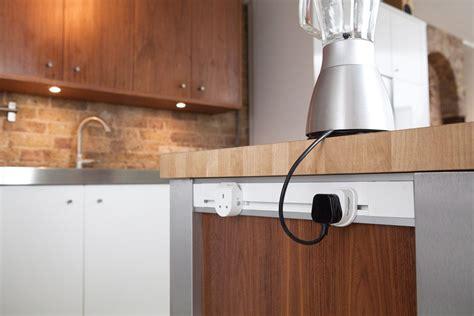 kitchen island power mainline power sockets installed into kitchen island a