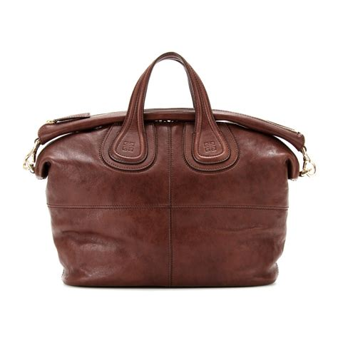 Givenchy Nightingale by Givenchy Nightingale Leather Tote In Brown Brown Lyst