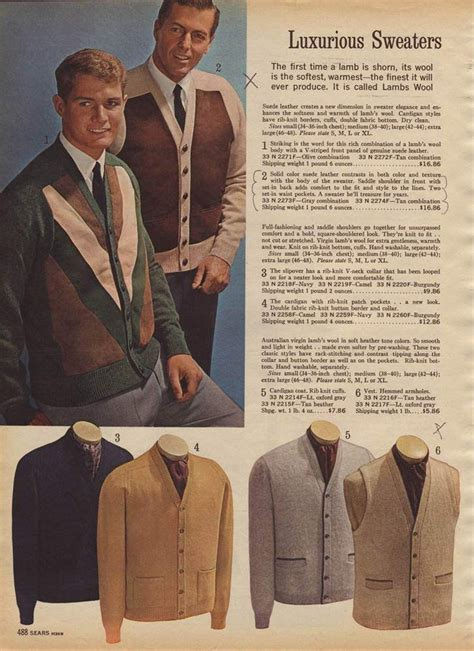 vintage s sweaters from a 1964 catalog 1960s s