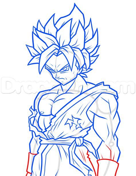 How To Draw Goku Saiyan Step By Step drawing saiyan blue goku step by step step by step