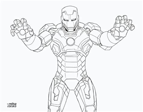 iron man heartbreaker coloring pages iron man mark 42 bnw by mikedimayuga on deviantart