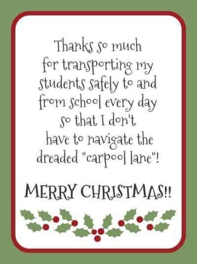 printable christmas card bus driver free printable gratitude christmas gift tags light the