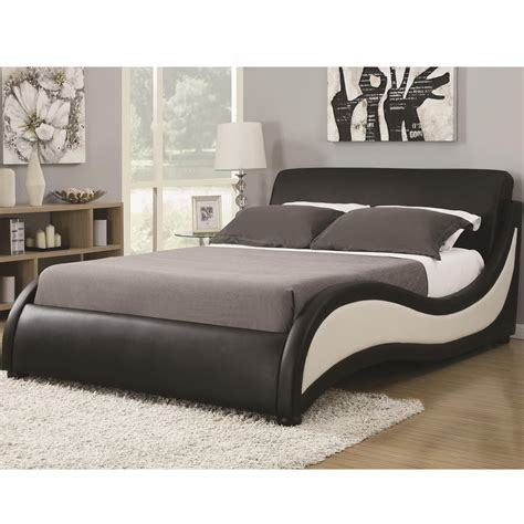 eastern king size niguel modern upholstered bed coaster 300170ke