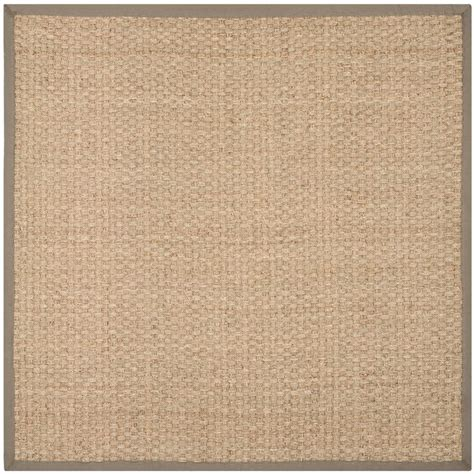 9 ft area rug safavieh fiber beige gray 9 ft x 9 ft square area rug nf114p 9sq the home depot