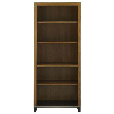 bush achieve 5 shelf bookcase with adjustable shelves in