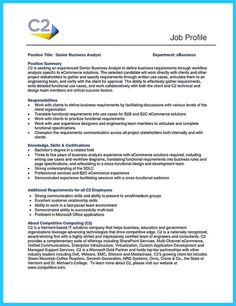 analyst resume exles create your astonishing business analyst resume and gain