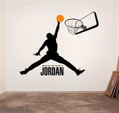 Tokomonster Basketball 8 Wall Decal Sticker Size 23 michael basketball logo silhouette dunk vinyl wall decal sticker stencil silhouette