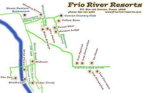 map of concan texas welcome to frio river resorts