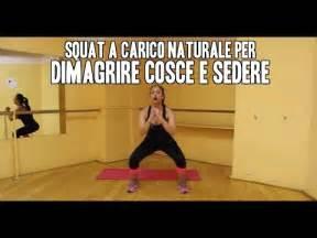 dimagrire sedere e cosce come tonificare gambe e glutei con squat a carico naturale