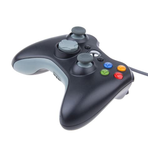 Usb Gamepad usb wired joypad gamepad black controller for xbox 360 joystick for official microsoft pc for