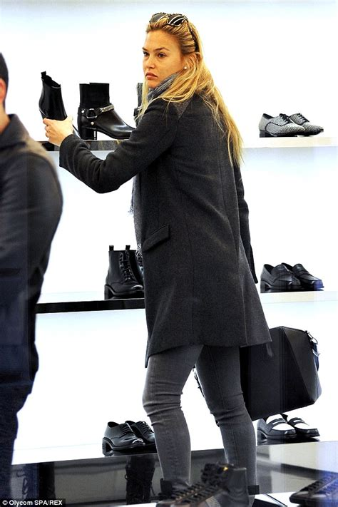 the look store milan tv bar refaeli is in shoe heaven as she hits the shops in