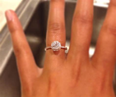 halo setting and thin band wedding rings