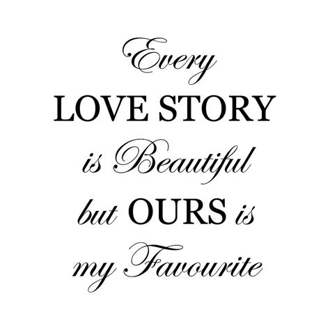 every love story is beautiful wall sticker by nutmeg