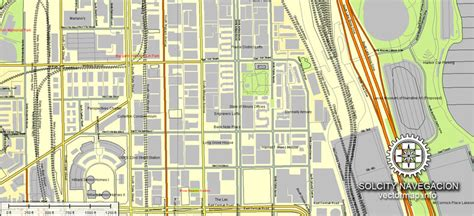 chicago illinois usa map map chicago illinois usa ai 1