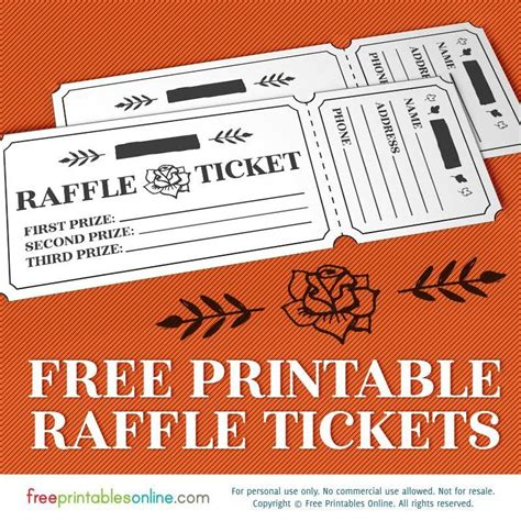 printable personalized tickets free printable raffle template with a rippable or cuttable