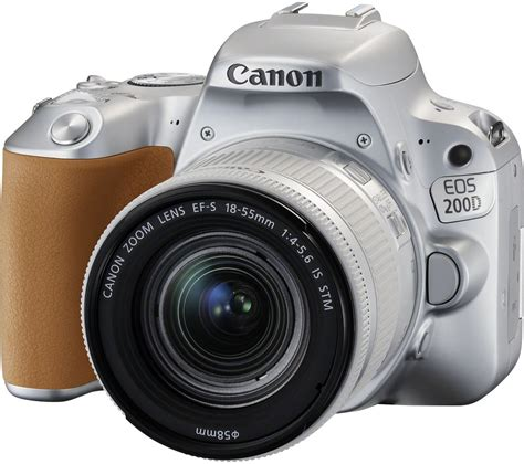 Dslr Kamera Canon buy canon eos 200d dslr with ef s 18 55 mm f 4 5 6 is stm lens silver free delivery