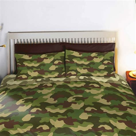 camo curtains and bedding army camouflage double duvet cover 66 quot x 72 quot lined