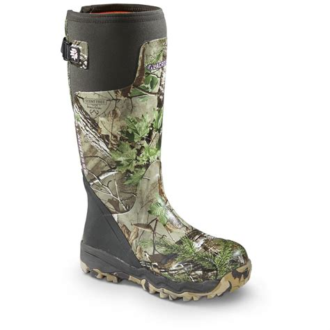 Womens Camo Rubber Boots by S 15 Quot Lacrosse Alphaburly Pro Realtree Xtra Camo