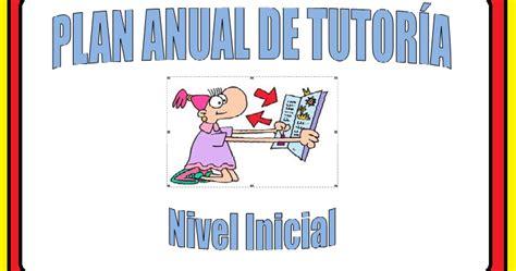plan de tutoria de inicial 2016 plan de tutoria nivel inicial preg 250 ntale al profesor
