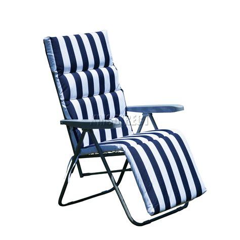 Recliner Sun Lounger Cushions by Foxhunter 2 X Sun Reclining Recliner Chairs Garden Relaxer
