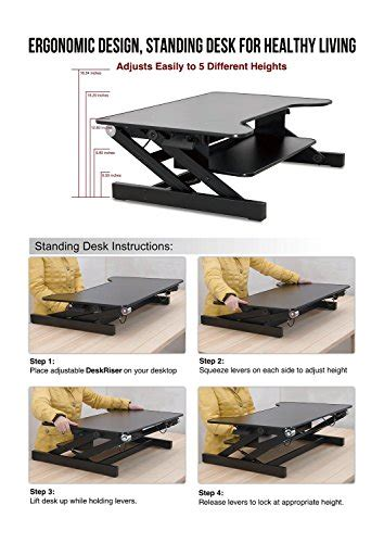 retractable stand up desk standing desk adjustable height desk riser sturdy 32in
