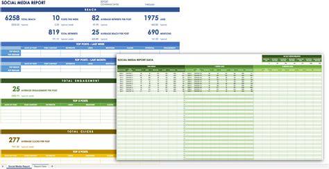 12 Free Social Media Templates Smartsheet Social Media Report Template