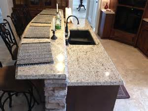 giallo ornamental light granite giallo ornamental light granite ogee edge detail