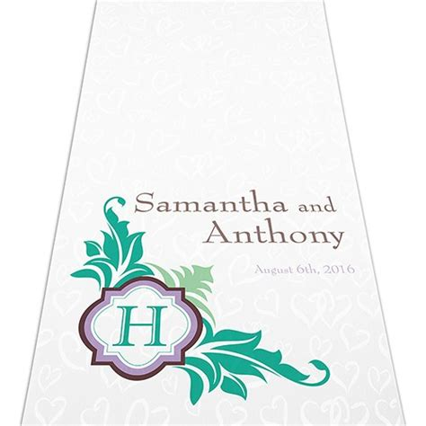 Wedding Aisle Runner Monogram by Lavish Monogram Personalized Aisle Runner The Knot Shop
