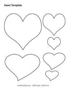 Printable heart templates to print