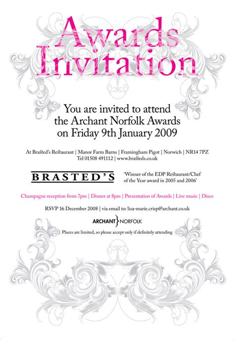 10 Glorious Award Ceremony Invitation Templates Psd Ai Free Premium Templates Award Email Template